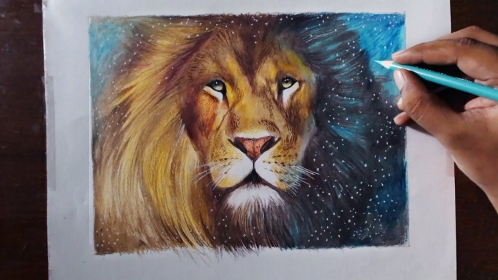Incredible Lion Colored Pencil Drawing Free Pin By Dana Trew :) On Art & Painting | Colored Pencil Artwork Photo