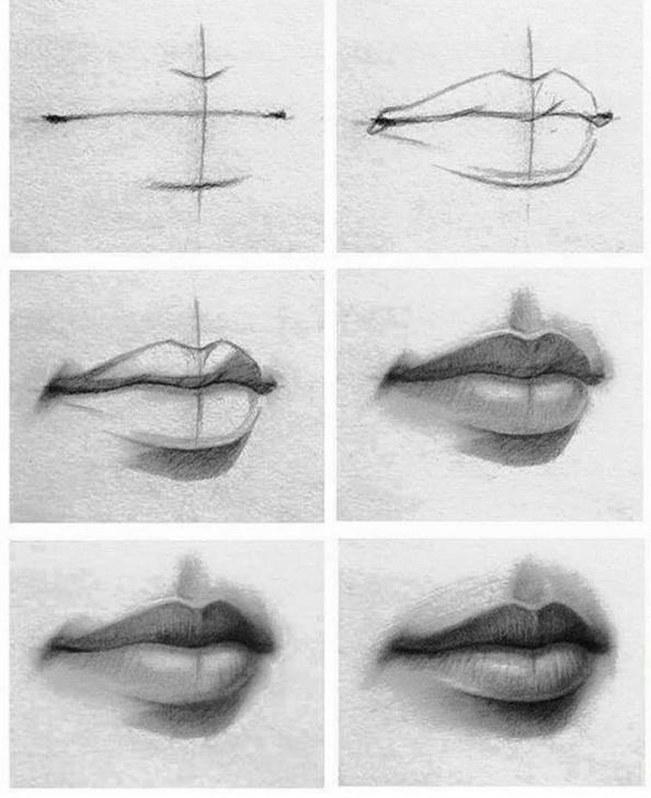 Incredible Lips Pencil Sketch Tutorial Tutorial Of Drawing Lips(Check It Out If You're Having Problems Pic