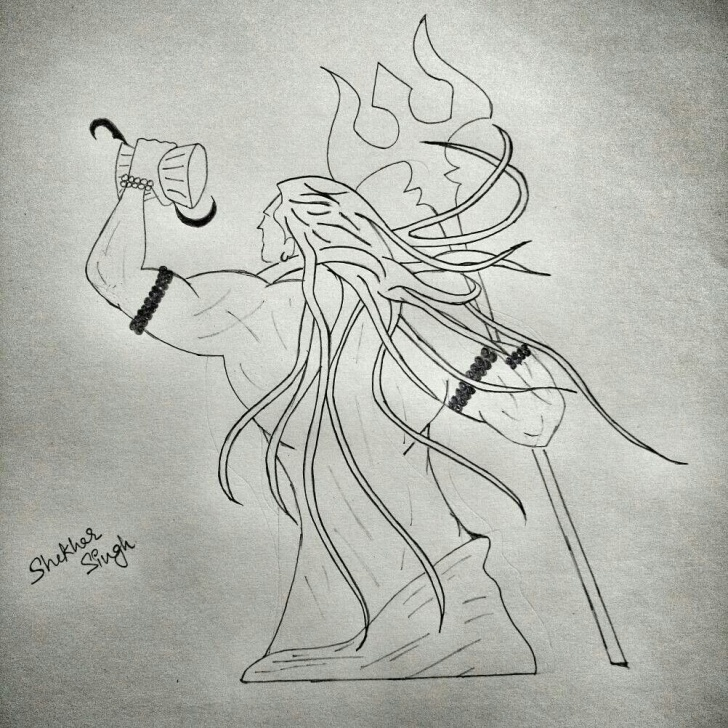 Incredible Mahadev Pencil Sketch Free Mahadev Shiv Ji Sketch | Sketch In 2019 | Sketches, Shiv Ji, Black Pics
