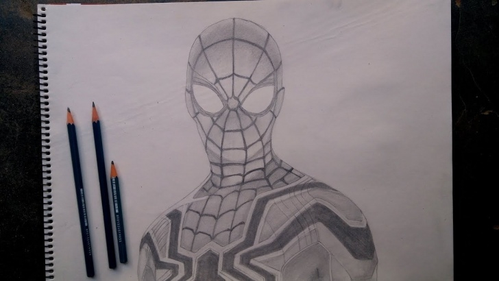 Incredible Marvel Drawings In Pencil Techniques for Beginners Spider-Man: Far From Home Realistic Pencil Sketch | Art School Photo
