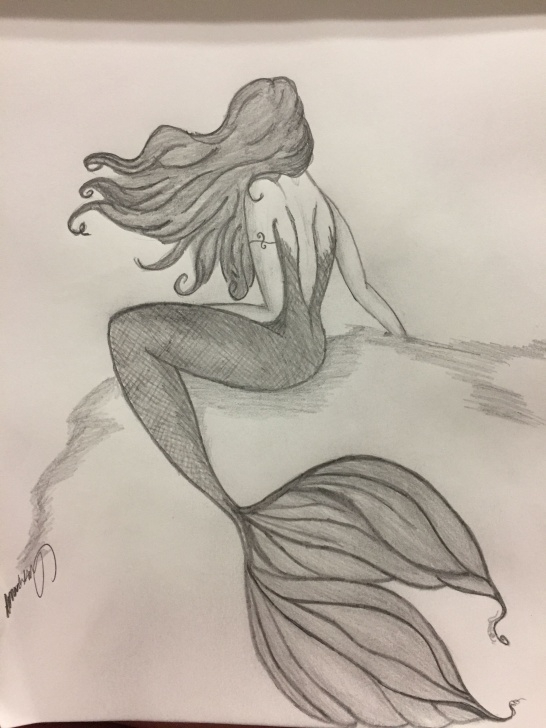 Mermaid Pencil Drawings