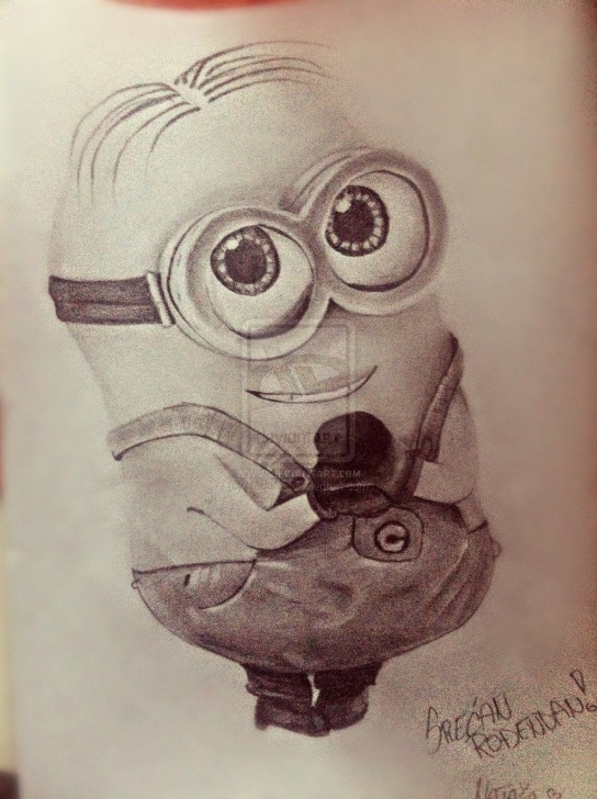 Incredible Minions Pencil Sketch Free Dave The Minion By Nacans | Drawing With Pencil | Minion Tattoo Pics