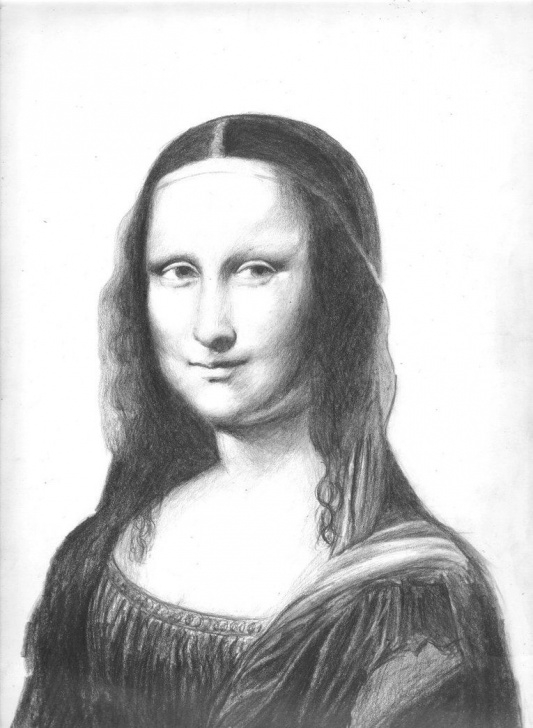 Incredible Mona Lisa Pencil Drawing Tutorials Mona Lisa Pencil Sketch And Mona Lisa - Pencil Portraitprinceovegeta Images