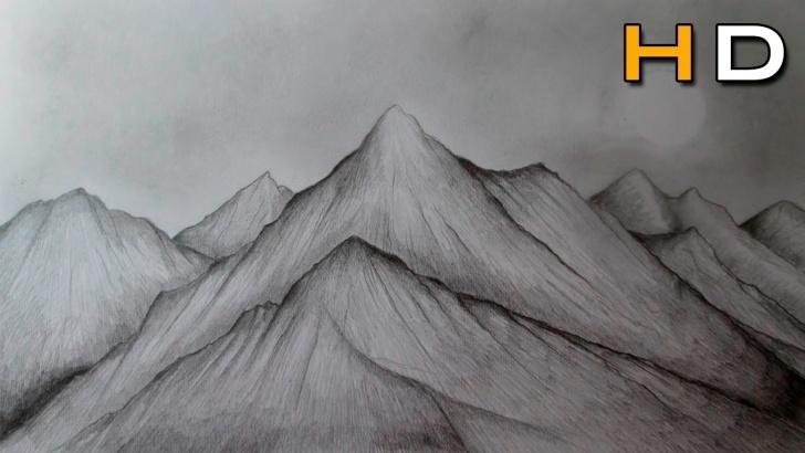 Incredible Mountain Pencil Drawing Courses Mountain Pencil Sketch And How To Draw Mountains With Pencil Photos