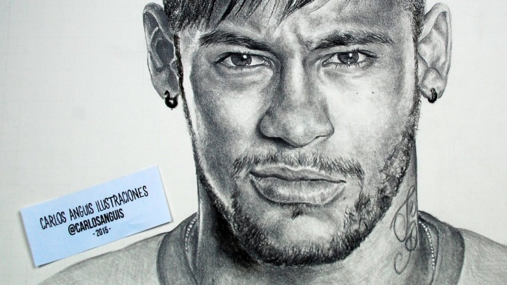 Incredible Neymar Pencil Drawing Easy Drawing Neymar Jr | Art In 2019 | Drawings, Black Pen Drawing Photo
