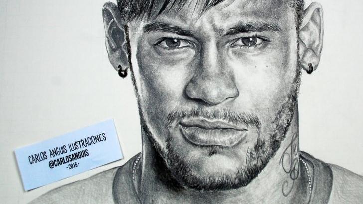 Incredible Neymar Pencil Drawing Easy Drawing Neymar Jr | Art In 2019 | Drawings, Black Pen Drawing Photo
