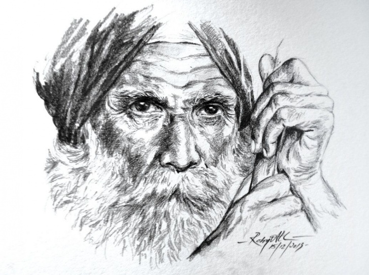 Old Man Pencil Sketch