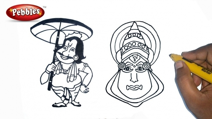 Incredible Onam Pencil Drawings Simple Onam Drawing For Kids | How To Draw Happy Onam Drawing For Kids Step By  Step For Kids Images