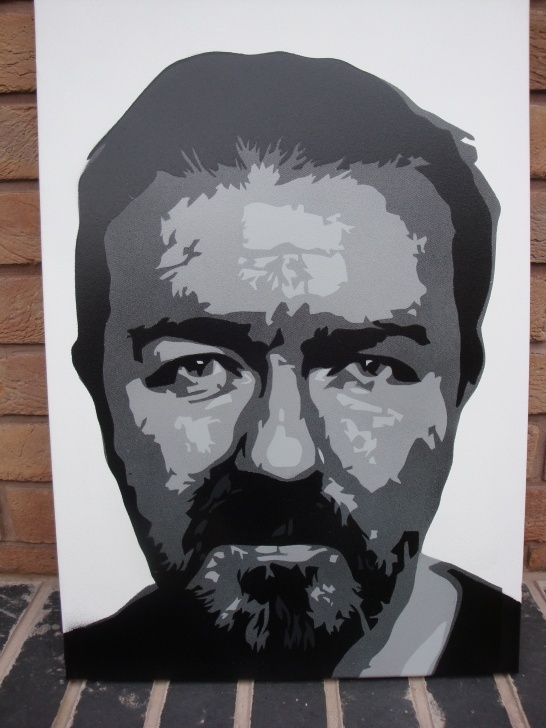 Incredible Painting On Canvas With Stencils Courses Ricky Gervais - Stencil Painting On Canvas | Daler Rowney Photos