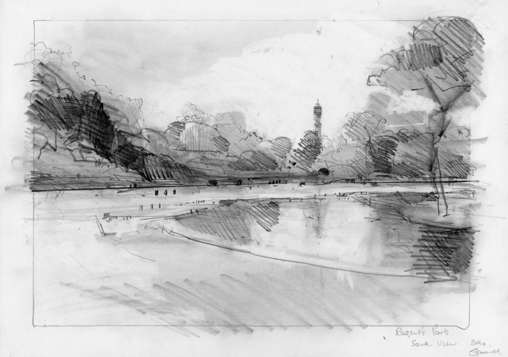 Incredible Park Pencil Drawing Free Drawing London #2 On Behance Images