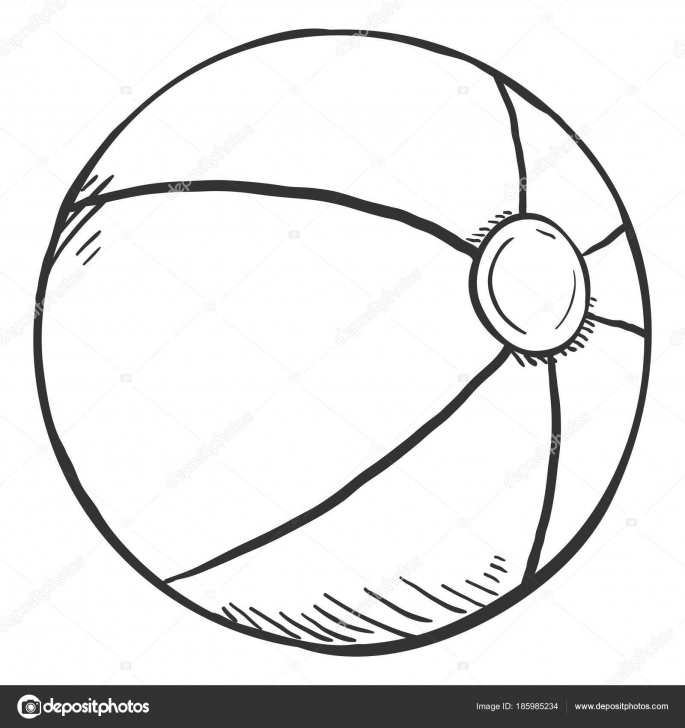 Incredible Pencil Art For Kids Simple Single Pencil Sketch Ball Kids Playing Vector Illustration — Stock Pic