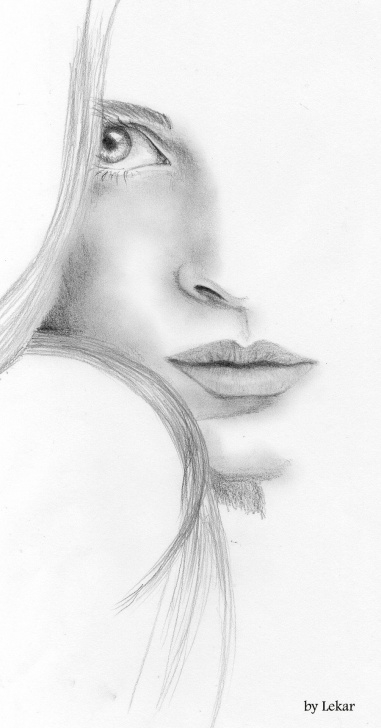 Incredible Pencil Art Girl Face Tutorials Image Detail For -Woman Face Sketch By ~Lanfear-Chess On Deviantart Image