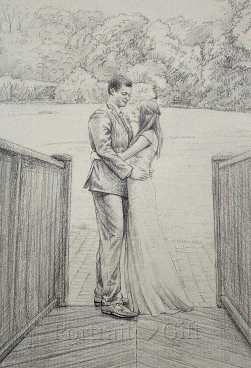 Incredible Pencil Couple Sketch Tutorials Wedding Pencil Sketch - Portrait Gift Images