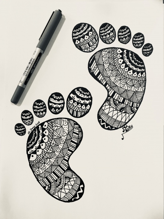 Incredible Pencil Doodle Art Ideas First Foot Steps | Handwriting In 2019 | Doodle Art, Mandala Drawing Photos