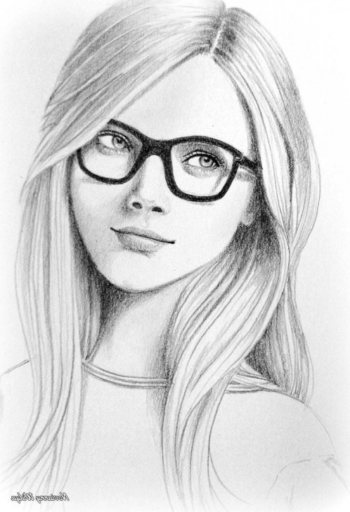 Incredible Pencil Drawing Of Girl Face Step by Step Female Face Sketch Images At Paintingvalley | Explore Collection Picture