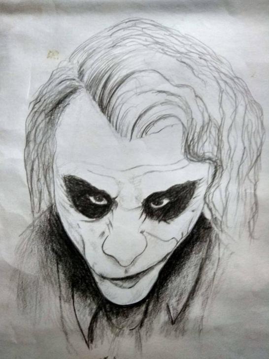 Incredible Pencil Drawing Of Joker Step by Step Joker Pencil Art Photo
