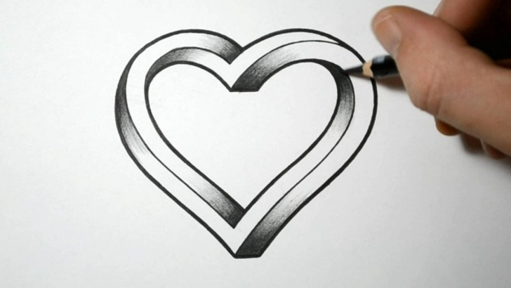 Incredible Pencil Drawings Of Love Hearts Lessons Pencil Sketch Heart At Paintingvalley | Explore Collection Of Images