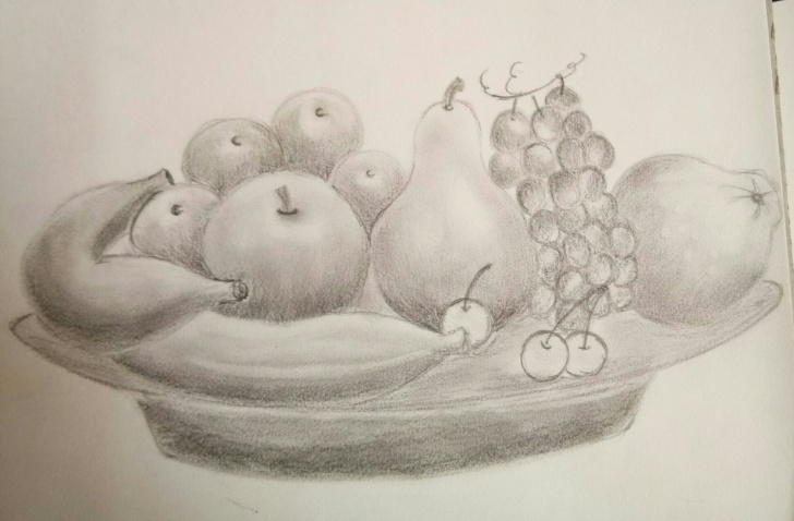 Incredible Pencil Shading Fruit Basket Courses Fruit Basket #pencil Shading | Artative In 2019 | Pencil Shading Photos