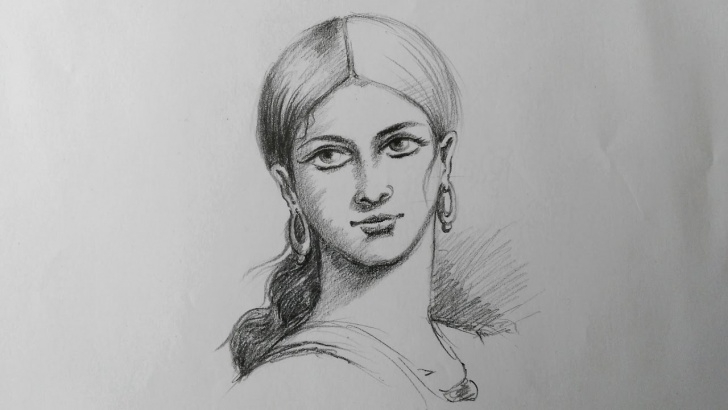 Incredible Pencil Shading Of Girl Techniques How To Draw A Simple Pencil Shading Of Lady Face Pics