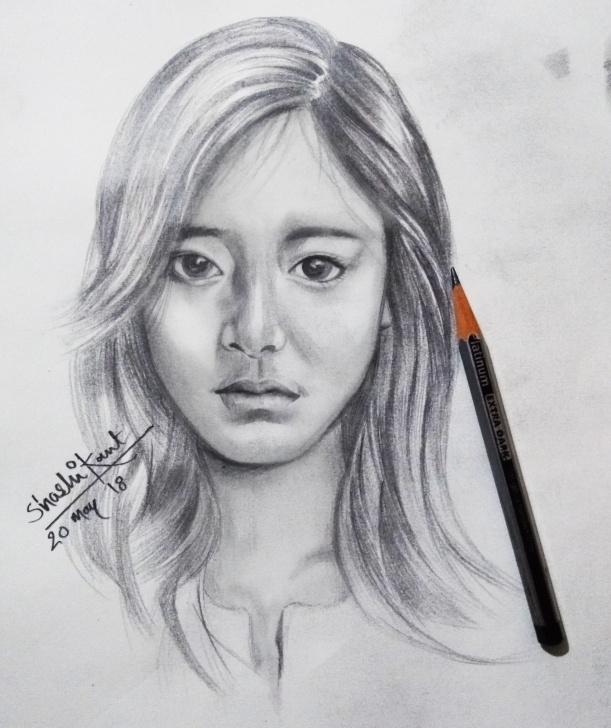 Incredible Pencil Shading Portrait Techniques for Beginners Pencil Shading Portrait Of A Girl #watercolour #lady #face #figure Pics