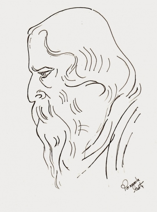 Incredible Pencil Sketch Of Rabindranath Tagore Free Pencil Sketch Picture Of Rabindranath Tagore Pencil - Rabindranath Pics