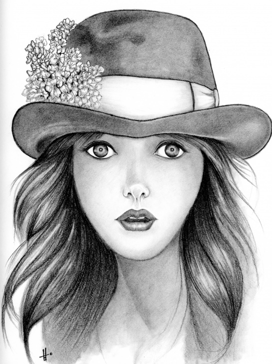 Incredible Pretty Girls Sketch Pencil Drawings Step by Step Girl Portrait Sketch At Paintingvalley | Explore Collection Of Images