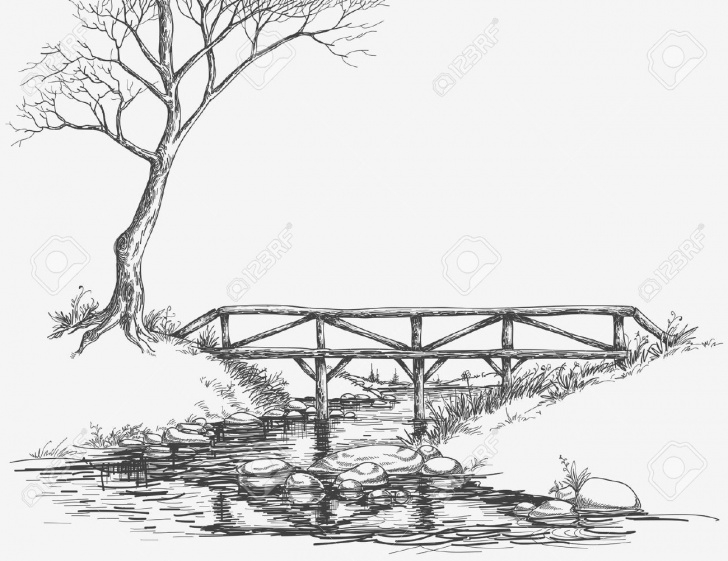 Incredible River Pencil Drawing Easy Pencil Line Drawing River - Google Search | Spring | Drawings, River Pic