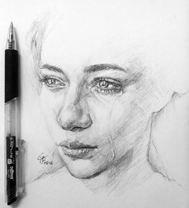 Incredible Sad Portrait Drawing Tutorials Sad #2018224 #art #design #drawing #sketch #practice #dailysketch Photo