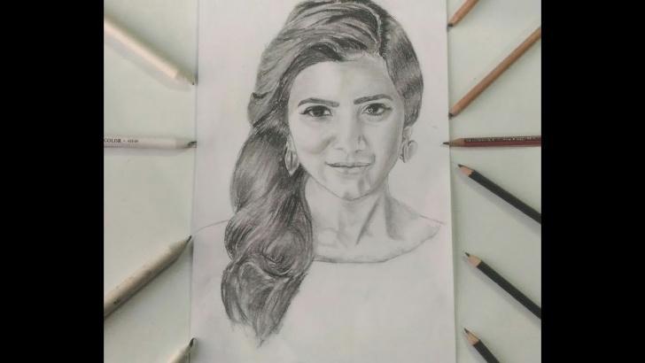 Incredible Samantha Pencil Sketch Easy Drawing Samantha Ruth Prabhu ||Celebrity Sketches|| Pics