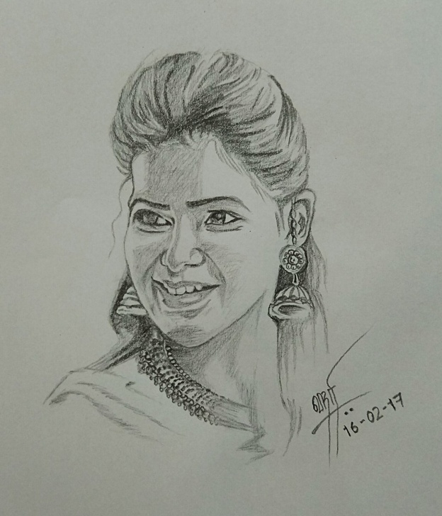 "Incredible Samantha Pencil Sketch Lessons Kumara Srihariharan On Twitter: ""pencil Sketch!!! Ever Gorgeous Pic"