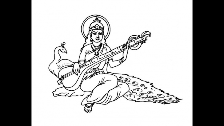 Incredible Saraswati Pencil Sketch Easy How To Draw Goddess Saraswati Mata Full Body Pencil Drawing Step By Step Images