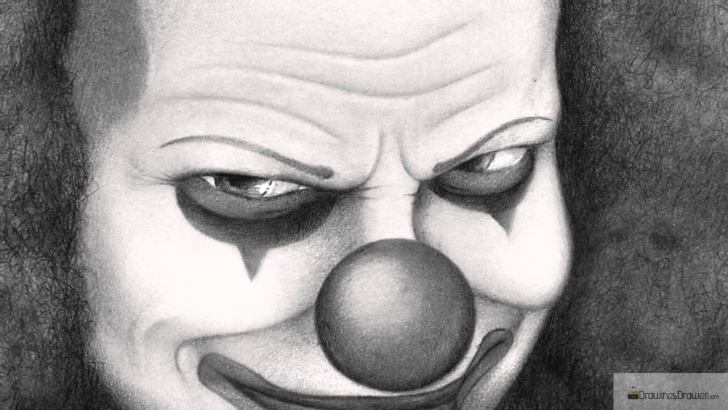 Incredible Scary Pencil Drawings Easy Evil Pencil Drawings And Scary & Evil Clown Drawings - Let's Play Picture