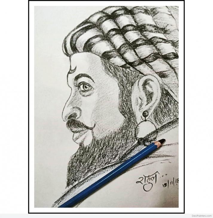 Incredible Shivaji Pencil Sketch Free Tremendous Pencil Sketch Of Shivaji Maharaj | Desipainters Pictures