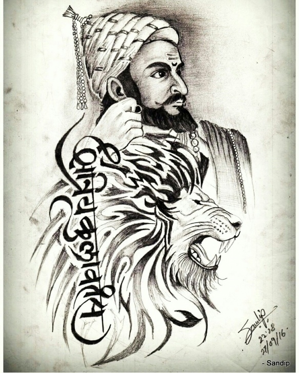 Incredible Shivaji Pencil Sketch Ideas 8+ Awesome Shivaji Maharaj Pencil Sketch Photos - Sketch - Sketch Arts Pics