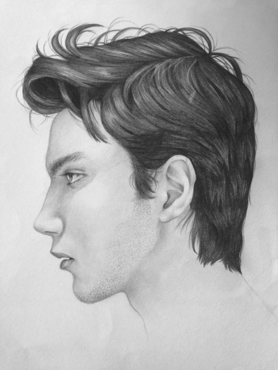 Incredible Side Portrait Drawing Free Side Portrait Drawing At Paintingvalley | Explore Collection Of Pic