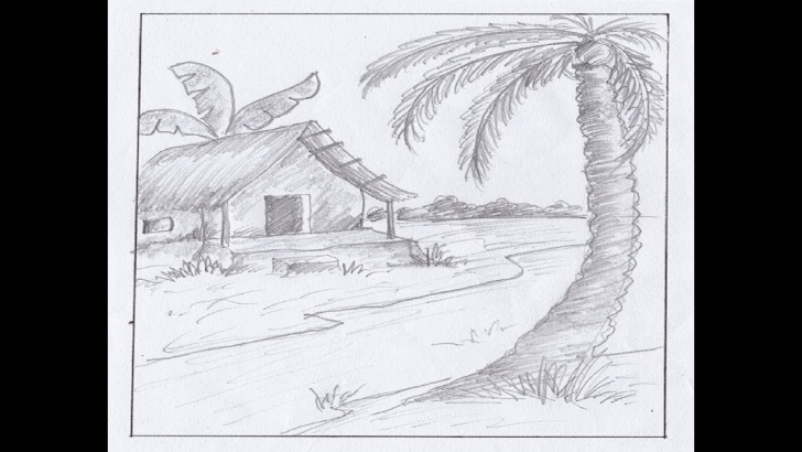 Incredible Simple Landscape Sketch Techniques How To Draw Landscape Sketch Drawing With Pencil || Simple Landscape For  Beginners|| Pencil Drawing Picture