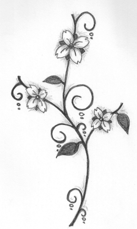 Simple Pencil Drawings Of Flowers