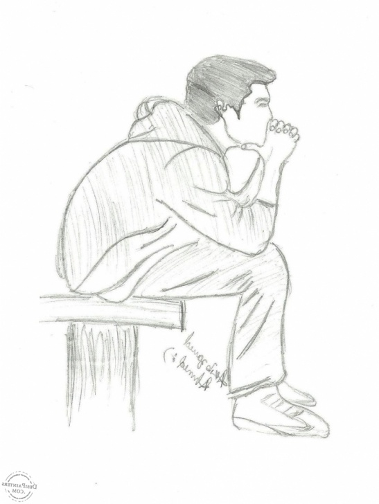Incredible Sketching Alone Boys Techniques Alone Sketch At Paintingvalley | Explore Collection Of Alone Sketch Pictures