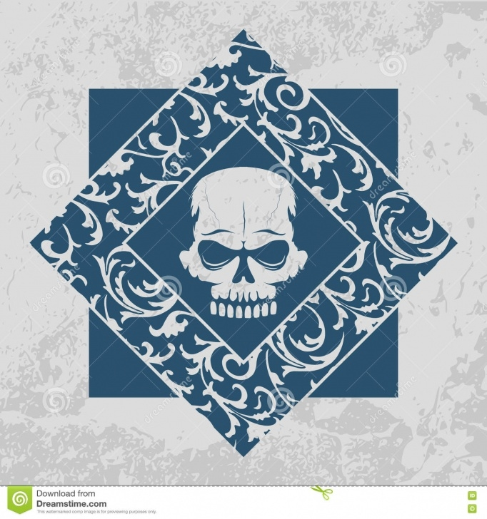 Incredible Skull Graffiti Stencil Step by Step Skull Graffiti Stencil With Floral Pattern Frame Stock Vector Pics