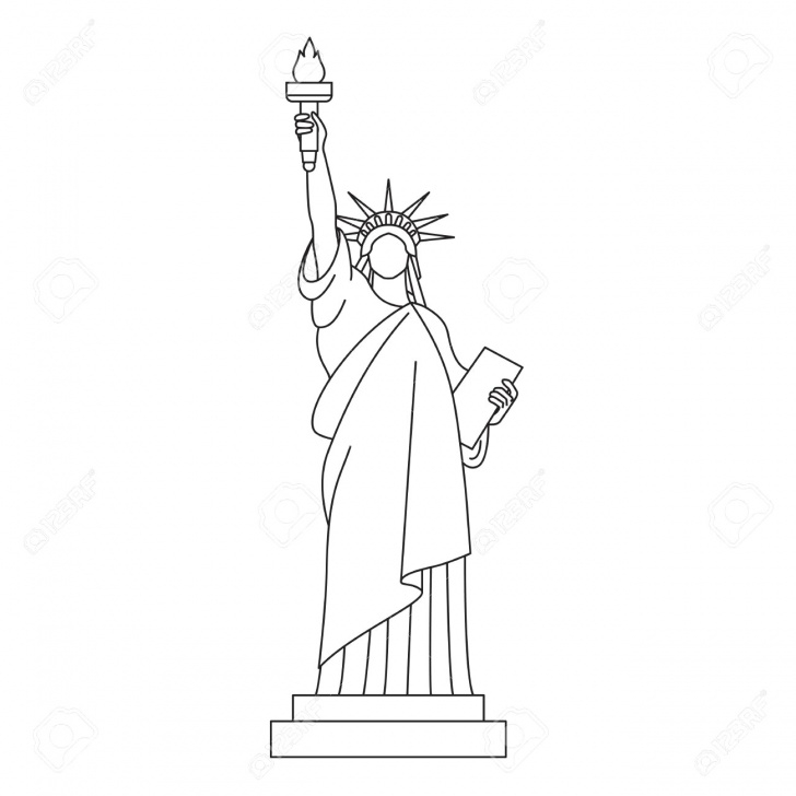 Incredible Statue Of Liberty Pencil Drawing Simple Statue Of Liberty Pencil Sketch At Paintingvalley | Explore Pics