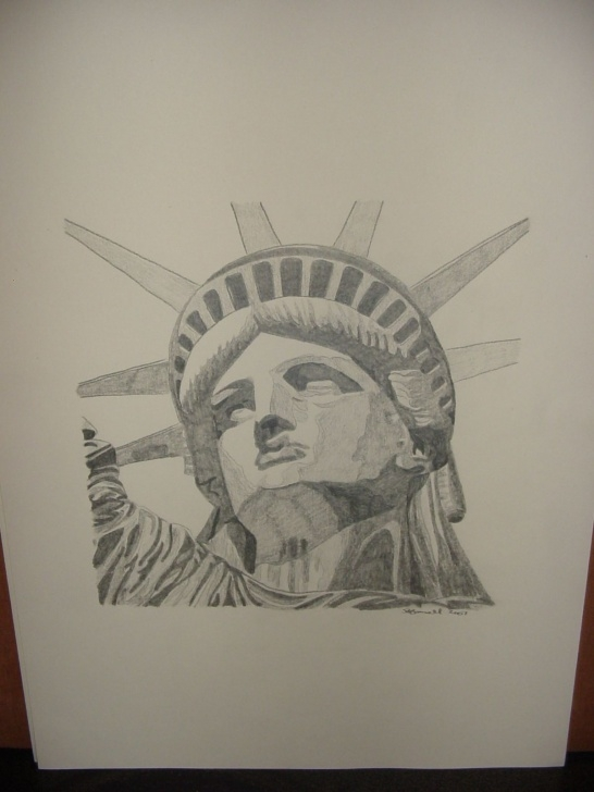 "Incredible Statue Of Liberty Pencil Drawing Tutorials Pencil Drawing ""statue Of Liberty"" 