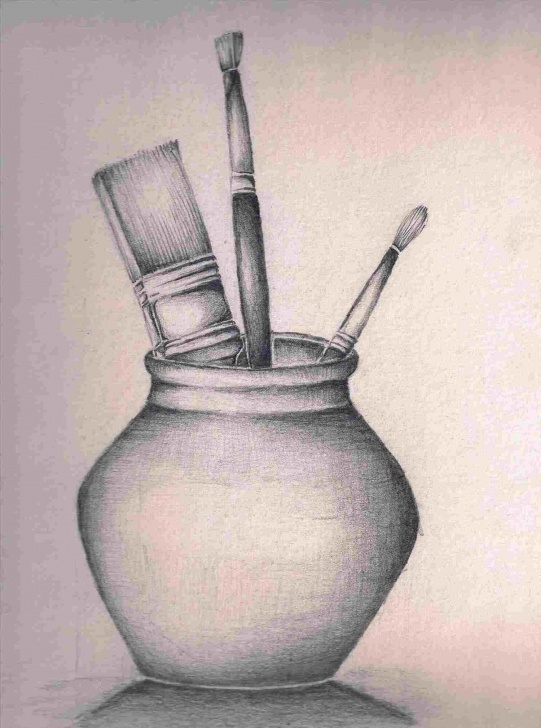 Incredible Still Life Drawings In Pencil With Shading Simple Still Life Drawing With Pencil Shading   Drawing Work Photo