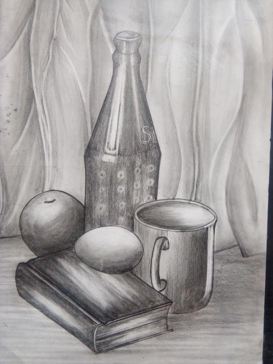 Incredible Still Life Pencil Shading Tutorial Still Life In Pencil Shading | Art Galleries | Art, Pencil Shading Pic