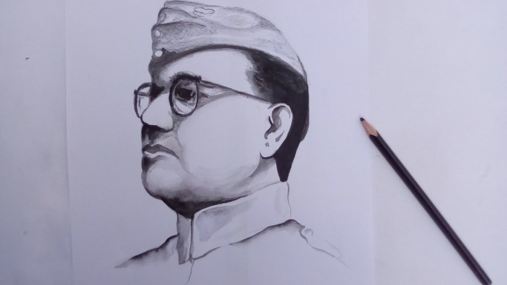 Incredible Subhash Chandra Bose Pencil Drawing Tutorials Bose Dead Or Alive | Netaji Subhas Chandra Bose (Banglar Art) Pictures