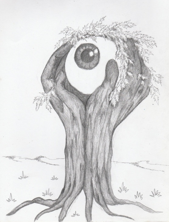 Incredible Surreal Pencil Drawings Techniques for Beginners Tree Hand Eye Ball Surreal Surrealism Pencil Sketch Drawing | Art Pic