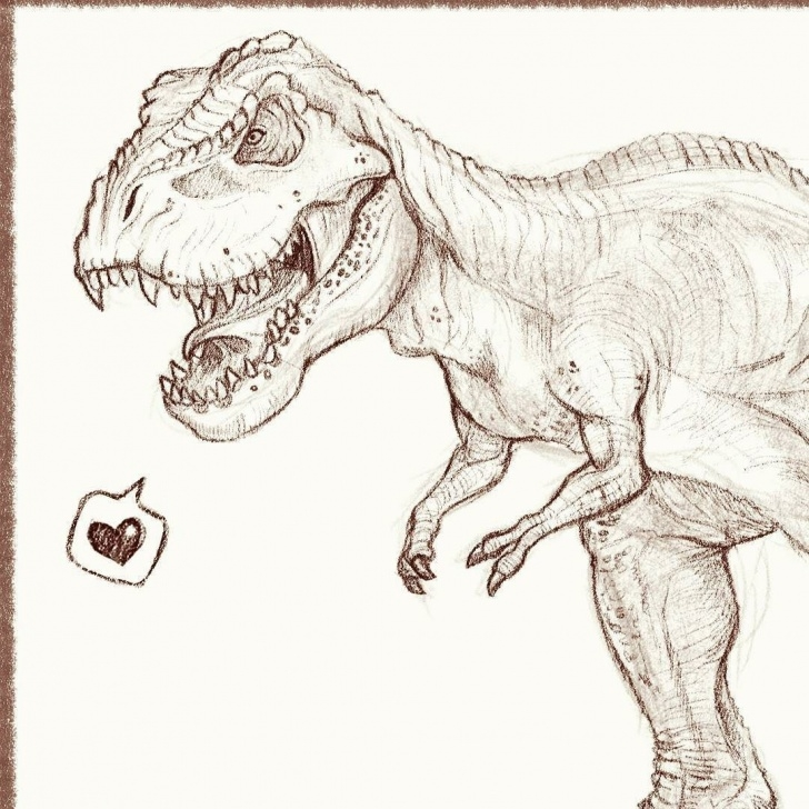 Incredible T Rex Pencil Drawing Courses T-Rex Sketch #trex #impalasart #sketch #drawing #dinosaur #art Images