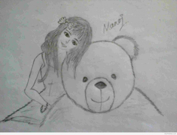 Incredible Teddy Bear Pencil Sketch Techniques for Beginners Teddy Bear Pencil Drawing Images | Drawing Work Picture
