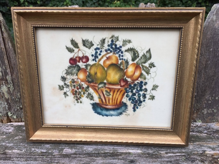 Incredible Theorem Painting Supplies Easy Maura Campbell Theorem Painting Of Basket Of Fruit And Flowers Pics