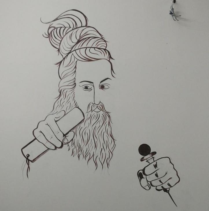 Incredible Thiruvalluvar Pencil Drawing Simple Wall Doodles-Thiruvalluvar By Priya Images