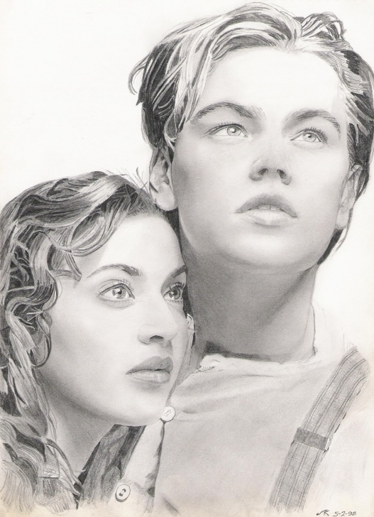 Incredible Titanic Pencil Drawing Ideas Pencil Drawing. Jack And Rose. | Skething | Pencil Art, Beautiful Images
